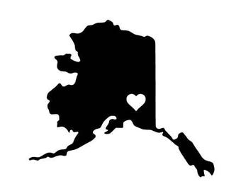 Alaska - Anchorage Alaska - Fairbanks Alaska - Kodiak Alaska - Alaska Home - Alaska Pride - Alaska Decal - Car Decal - State Decal