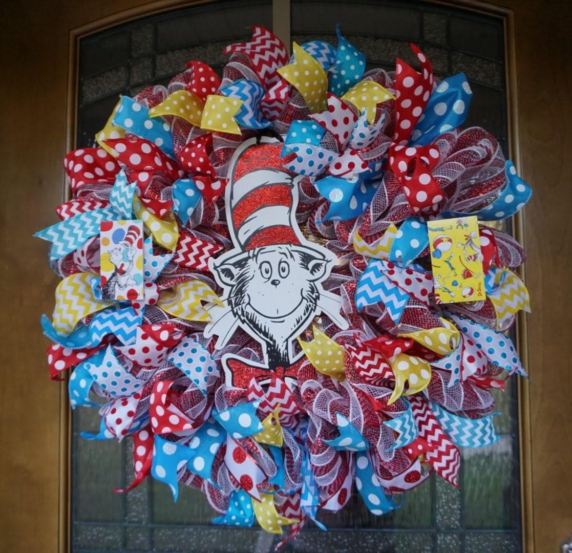 Dr Seuss Wreath Teacher Wreath Classroom Wreath Teacher