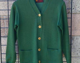 Vintage Green Letterman  Cardigan [0201]
