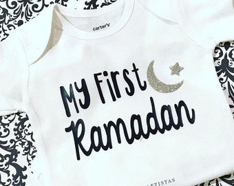 My First Ramadan baby bodysuit, eid onesie, ramadan onesie, muslim baby, islamic holiday, eid gift, ramadan gift, islamic gift, muslim gift
