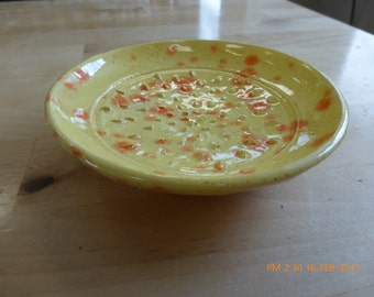 Wheel-Thrown Hand-Painted Garlic Grater