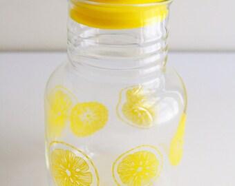 Vintage Pyrex Yellow Lemons Carafe