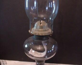 Vintage Hurricane Glass Oil Lamp, (# 831/bb51)