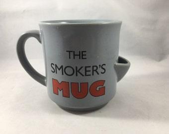 Vintage Novelty Mug Smoker's Mug Emergency Ashtray Morrow Japan Recycled Paper Products