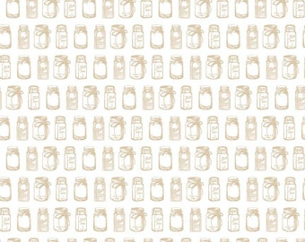 Rustic Jar in Tan Cotton Fabric from the Rustic Elegance Collection by Carta Bella for Riley Blake