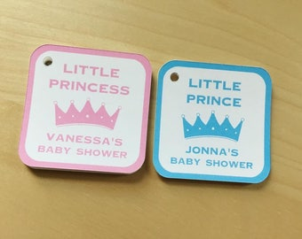 Royal Baby Shower Favor Tags, Prince or Princess Baby Shower favor tags,Party Favor tags (BTAG-11)