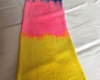 Tropical sky  Singke Knit sock blank