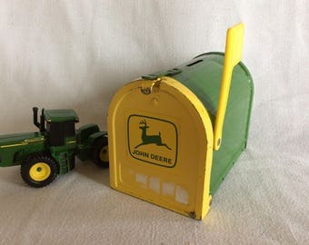 Vintage John Deere mailbox penny saver bank advertising product