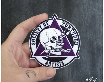 Society of Tortured Artists - Iron on Gang Patch