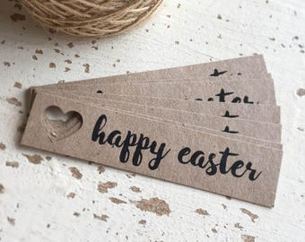 Happy Easter Tags Pk10 - Rustic.