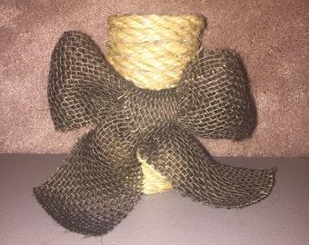 Handmade Rustic Rope Mini Vase