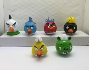 Mister A Gift ANGRY BIRDS cake toppers 6 plastic figures