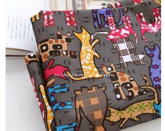 Cat Kitten Printed Laminated Fabric Waterproof / made in Korea by the Yard
