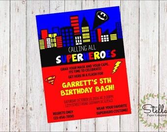 Superhero Party Invitation (Digital Download)