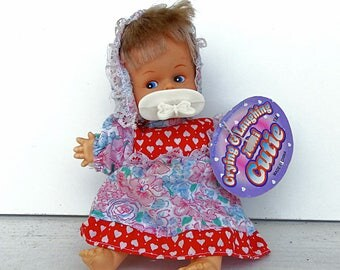 Crying doll with pacifier laughing doll toy battery operated doll moody baby doll fabric doll baby doll toy vintage 1998 new with tags