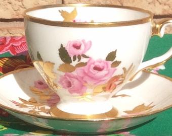 Pretty Pink Addiction-Salisbury Dijon Bone China Teacup and Saucer