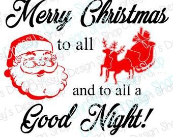 Christmas SVG download / santa svg / christmas cut file / christmas silhouette file / christmas dxf / vinyl crafting / christmas clip art