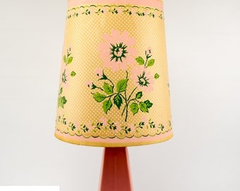 Vintage Table Lamp | Pink Ceramic Lamp |  Mid Century Decor