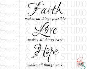 faith love hope digital file