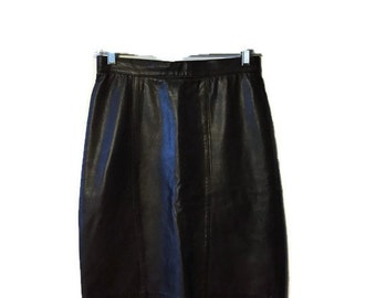 Brown Leather Skirt - Genuine Leather Skirt - Pencil Skirt