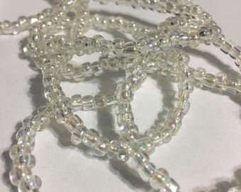 Glass Beads Necklace - Clear Beads Necklace