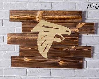 Atlanta Falcons Wood Sign Atlanta Falcons Wall art Atlanta Falcons Gift Atlanta Falcons Birthday Atlanta Falcons Party wooden