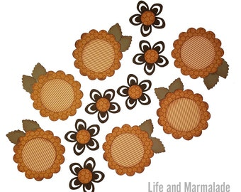 Sunflowers Handmade Embellishments for Scrapbooking, Card Making, Paper Crafts