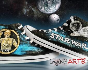 Custom handpainted Star Wars shoes