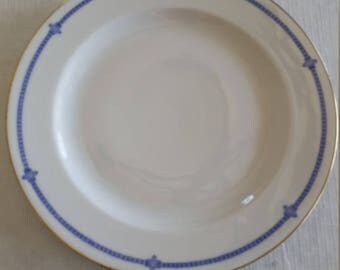 "antique 9"" hutschenreuther selb lhs bavaria porcelain dinner plate 1920's - art deco germany china vintage collector kitchen dinnerware"