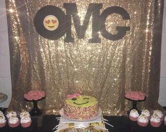 Emoji (OMG) backdrop prop. You just get the OMG prop.