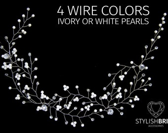 Wedding Hair Vine, Hair Vine, Pearl Hair Accessories, Pearl Vine, Bridal Hairpiece, Bridal Hair Vine