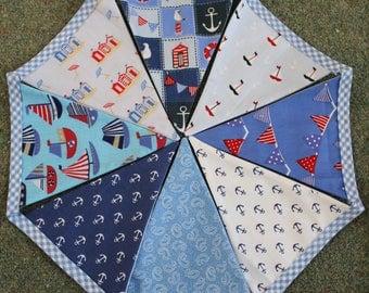 Boy's nursery nautical theme bunting, nautical bunting, nautical theme, boats bunting, blue bunting, nursery bunting