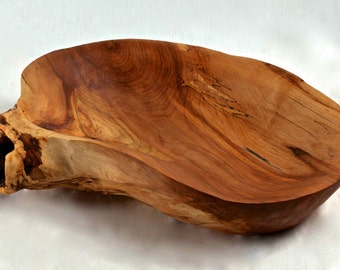Hand-Carved Maple Wooden Decorative Bowl