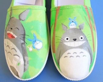 Totoro Hand-Painted Canvas Shoes