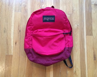 Vintage 90's Jansport red backpack with made in USA