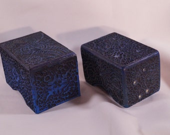 Magic the Gathering Hand made Deck Box Deep-Blue Tempra-Structure by Saturian Khazard, MtG, Jewelry Box