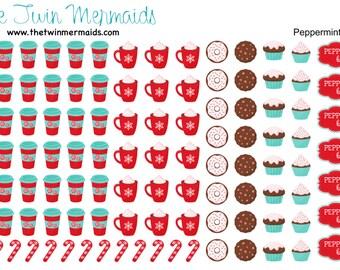 Peppermint Mocha Planner Stickers