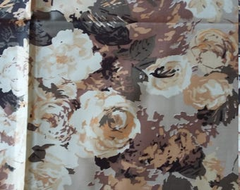 Vintage cotton fabric, Horrockses Fashions, 1950s, floral