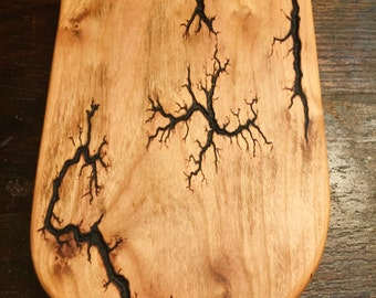 Lichtenberg Figure Cherry Wood Cutting Board / Serving Board