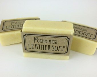 Leather soap, saddle soap, leather cleaning, lanolin soap