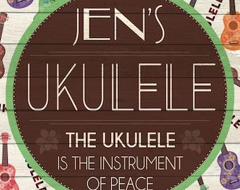 Custom Ukulele Sign Digital Download