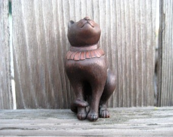 Museum Reproduction of a Small Japanese Cat Sculpture