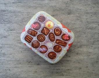 Box of Chocolates Mini Tin Box / Dodo Designs / 1980's