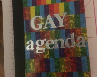 Gay agenda mini notebook