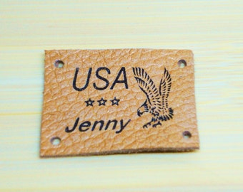 Custom Knitting Labels, Hangtag, Jean labels,Personalized Labels,Sewing Labels, Clothing Label,Knitting Label, Set of 25 pieces