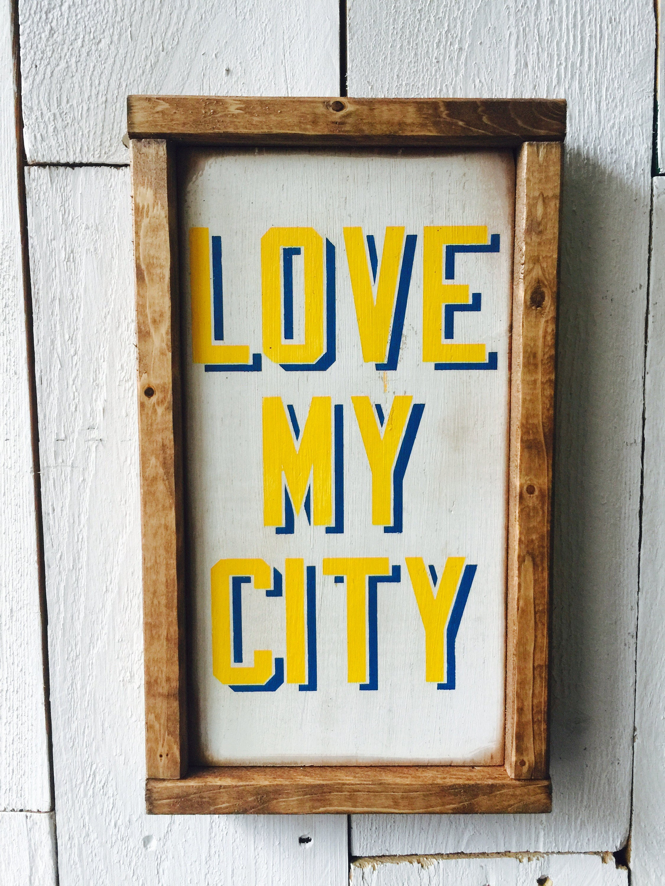 Love My City Wall Art Home Decor Gift for Him Gift for