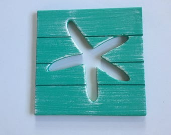 Starfish Coastal Decor Shabby Chic Beach Art