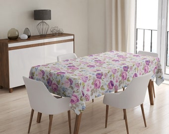 Tablecloth SOFT VIOLET ROSEs II