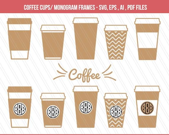 coffee mug svg dxf paper coffee cups clipart coffee mugs