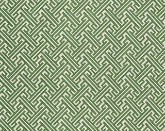 Green Pillow Cover, Green Trellis Pillow, Kelly Green, White, Geometric, Lattice, Throw Pillow, Modern, SummerHome, Lacefield Designs